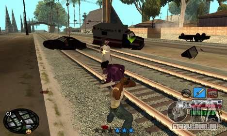 C-HUD Rainbow para GTA San Andreas por diante tela