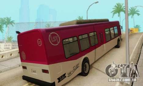 O trânsito de Ônibus из GTA 5 para GTA San Andreas vista direita