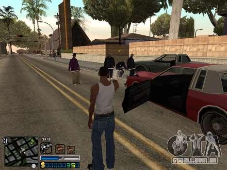 C-HUD By Stafford para GTA San Andreas por diante tela