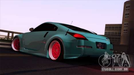 Nissan 350Z Minty Fresh para GTA San Andreas vista superior