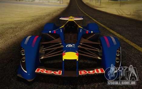 GT Red Bull X10 Sebastian Vettel para GTA San Andreas traseira esquerda vista
