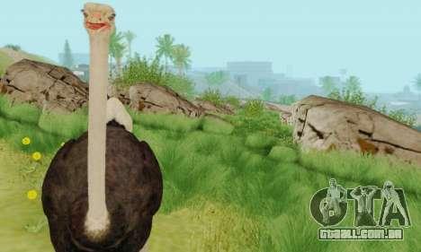 Ostrich From Goat Simulator para GTA San Andreas por diante tela