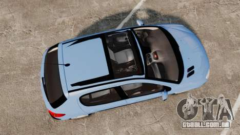 Peugeot 206 para GTA 4 vista direita