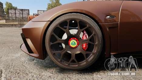 Lotus Evora GTE Mansory para GTA 4 vista de volta