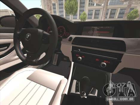 BMW M5 F10 2012 para GTA San Andreas vista superior