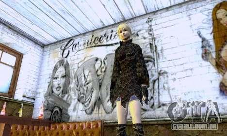 A menina loira com roupas pretas para GTA San Andreas