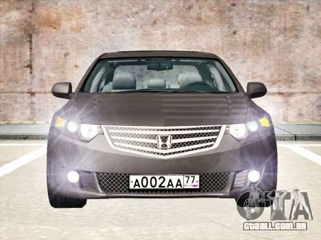 Honda Accord 2009 para GTA San Andreas vista direita