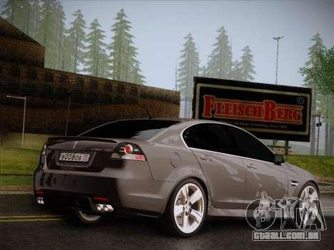 Pontiac G8 GXP 2009 para GTA San Andreas esquerda vista