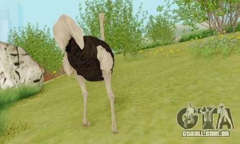 Ostrich From Goat Simulator para GTA San Andreas quinto tela