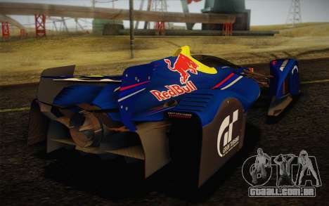 GT Red Bull X10 Sebastian Vettel para GTA San Andreas vista traseira