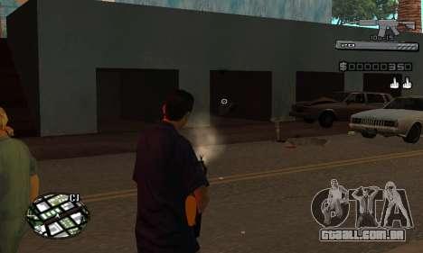 C-HUD Smoke para GTA San Andreas quinto tela
