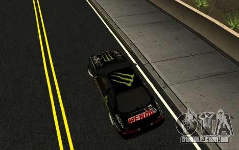 Nissan Silvia S14 Monster Energy KENDA Tire para GTA San Andreas vista direita