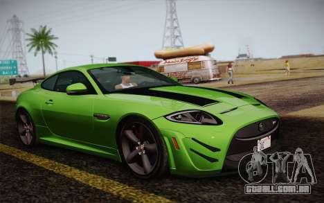 Jaguar XKR-S GT 2013 para GTA San Andreas traseira esquerda vista