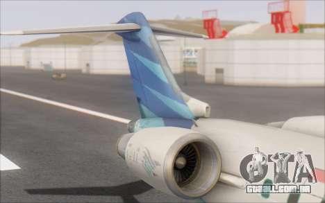 Garuda Indonesia Bombardier CRJ-700 para GTA San Andreas traseira esquerda vista