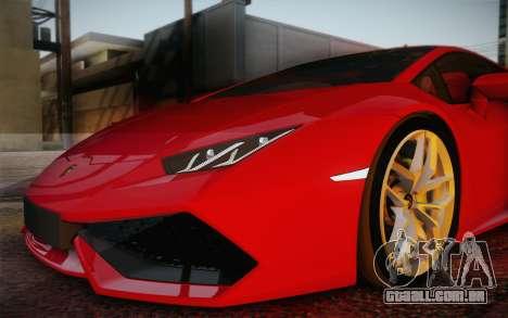 Lamborghini Huracan 2013 para as rodas de GTA San Andreas