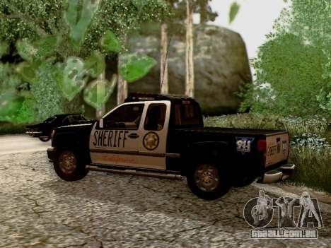 Chevrolet Colorado Sheriff para GTA San Andreas esquerda vista