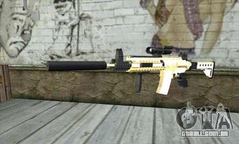 Golden M4A1 para GTA San Andreas