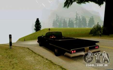 Voodoo Conversível (versão com faróis) para GTA San Andreas esquerda vista