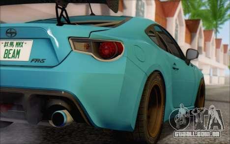 Scion FR-S 2013 Beam para GTA San Andreas vista traseira
