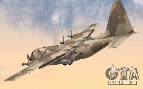 C-130H Hercules para GTA San Andreas esquerda vista