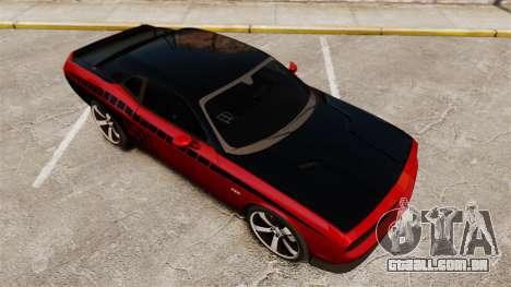 Dodge Challenger SRT8 2012 para GTA 4 vista inferior