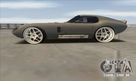 Shelby Cobra Daytona para GTA San Andreas traseira esquerda vista