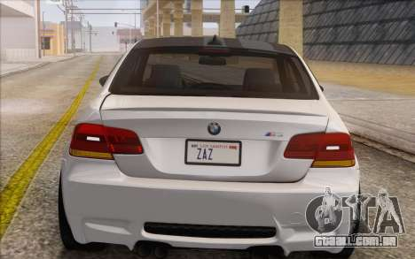 BMW M3 E92 2008 para GTA San Andreas vista interior