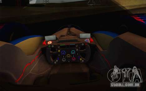 GT Red Bull X10 Sebastian Vettel para GTA San Andreas vista interior