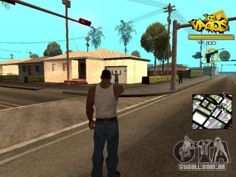 Vagos Gang HUD para GTA San Andreas segunda tela