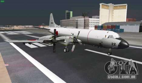 Lockheed P-3 Orion FAJ para GTA San Andreas vista superior