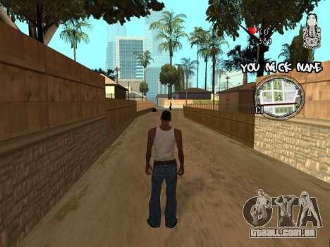 C-HUD by San4os para GTA San Andreas segunda tela