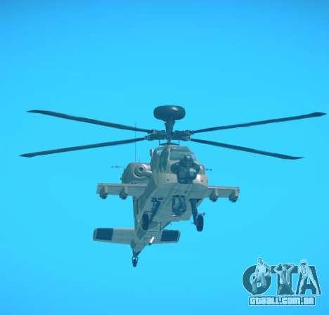 AH-64 Longbow Apache para GTA San Andreas