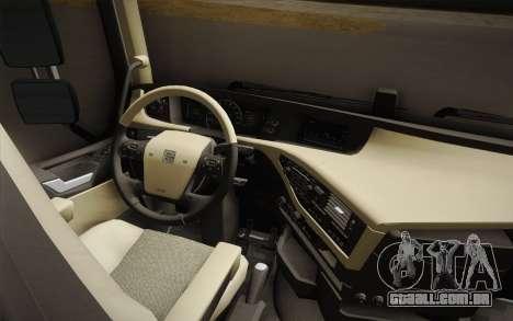 Volvo FH 750 2014 para GTA San Andreas vista interior