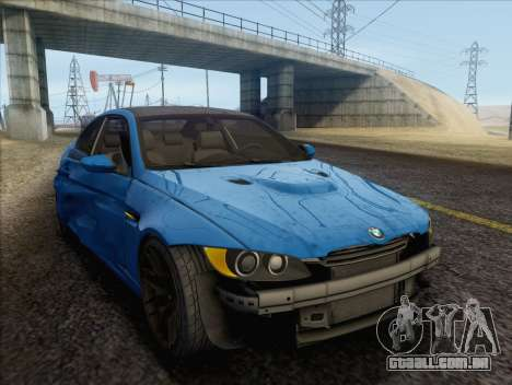 BMW M3 E92 2008 para GTA San Andreas vista inferior