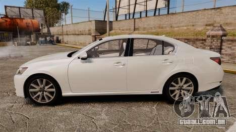 Lexus GS 300h para GTA 4 esquerda vista
