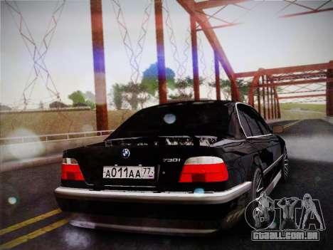 BMW 730d E38 1999 para GTA San Andreas esquerda vista