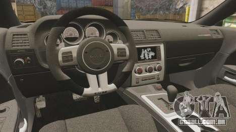 Dodge Challenger SRT8 2012 para GTA 4 vista interior
