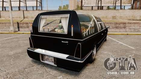Albany Romero new wheels para GTA 4 traseira esquerda vista