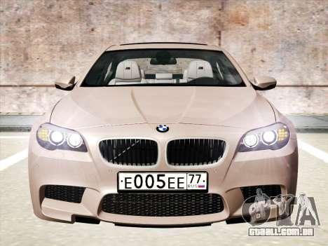 BMW M5 F10 2012 para GTA San Andreas esquerda vista