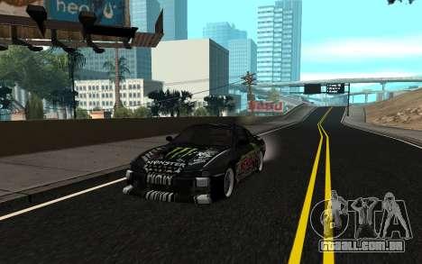 Nissan Silvia S14 Monster Energy KENDA Tire para GTA San Andreas