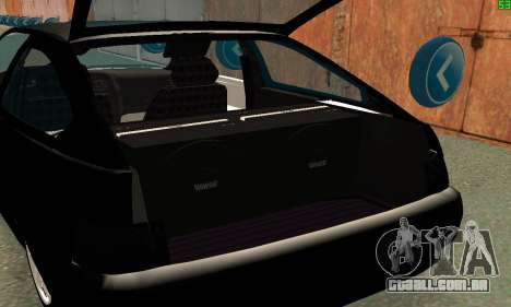 VAZ-21123 TURBO-Cobra para GTA San Andreas vista interior