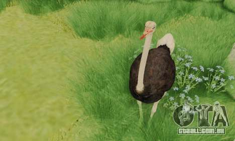 Ostrich From Goat Simulator para GTA San Andreas terceira tela