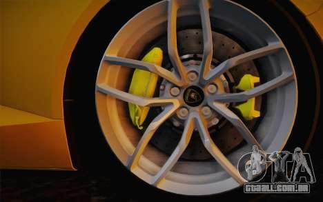 Lamborghini Huracan 2013 para GTA San Andreas vista traseira