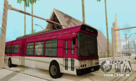 O trânsito de Ônibus из GTA 5 para GTA San Andreas esquerda vista