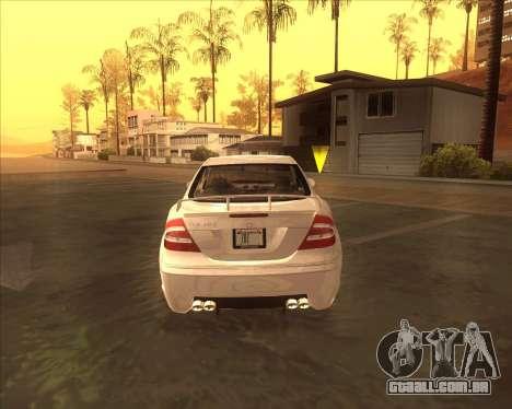 Mercedes CLK 500 из NFS Most Wanted para GTA San Andreas vista direita