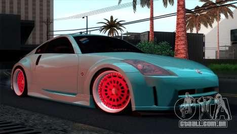 Nissan 350Z Minty Fresh para GTA San Andreas vista inferior