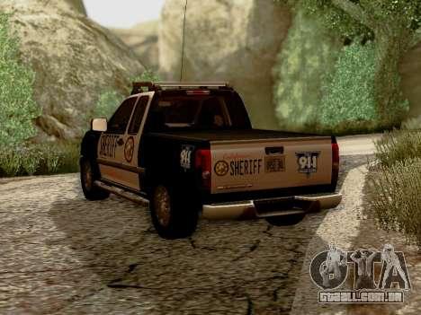 Chevrolet Colorado Sheriff para GTA San Andreas traseira esquerda vista