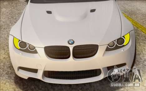 BMW M3 E92 2008 para GTA San Andreas vista superior