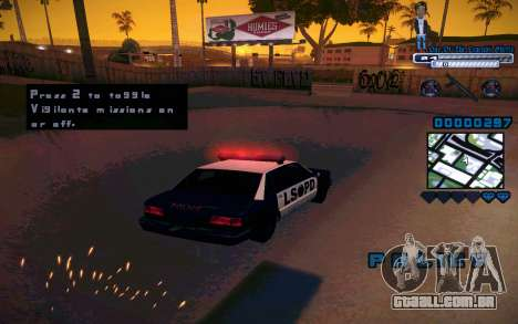 C-HUD One Of The Legends Ghetto para GTA San Andreas quinto tela