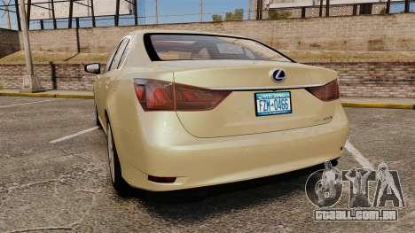 Lexus GS 300h para GTA 4 traseira esquerda vista